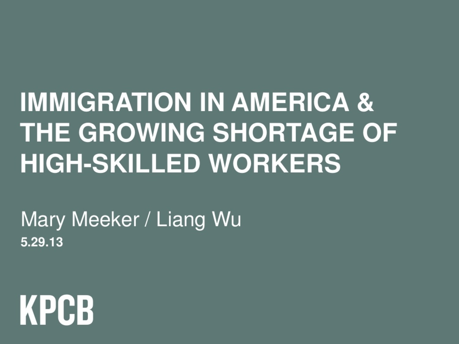 Immigration in America & The Growing Shortage of High-Skilled Workers
